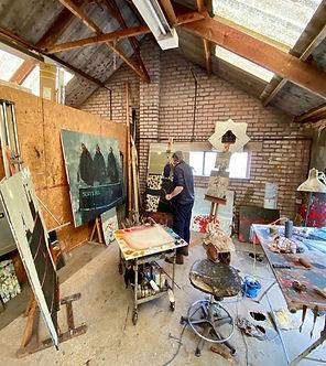 Gordon At Work In His Studio