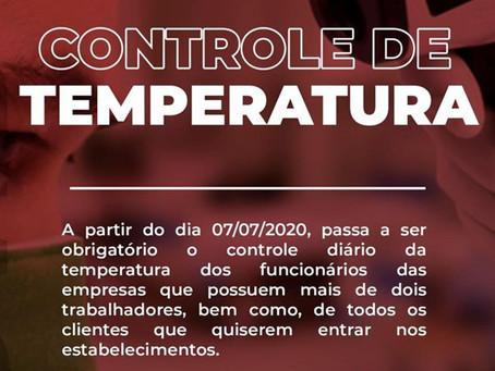 Controle de temperatura passa a ser obrigatório em Fontoura Xavier