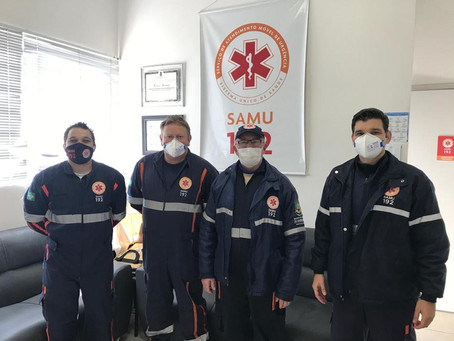 Mais de 1.600 pessoas receberam atendimento do SAMU