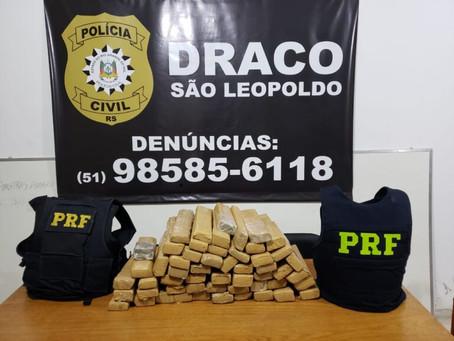 Polícia Civil e Polícia Rodoviária Federal interceptam carga de maconha em Santo Antônio da Patrulha