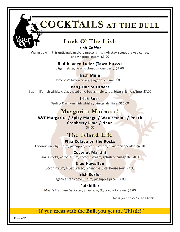 Bull and Thistle Drinks and Drafts (v13-