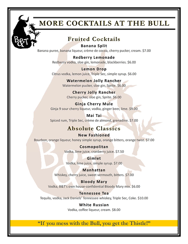 Bull and Thistle Drinks and Drafts (v12-
