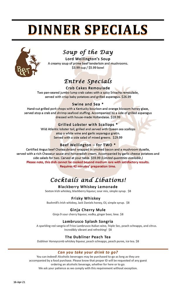 B&T Dinner Specials (v57-dlm-16Apr2021).