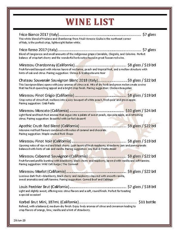 Bull and Thistle Wine List (v2-dlm-19Jun