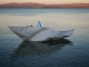 New paper boat - copyright Colin Cunningham