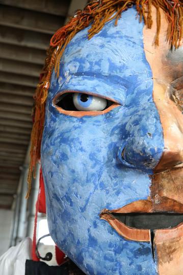 Giant face - image copyright George Munro