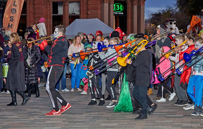 Galoshans Streetband - image copyright Dougie Coull