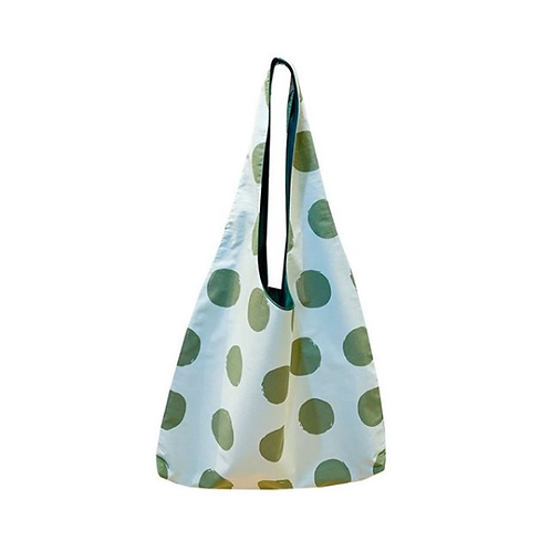 【洽圖洽】Himawari Baggu 泰國手工休閒包-單純綠點袋