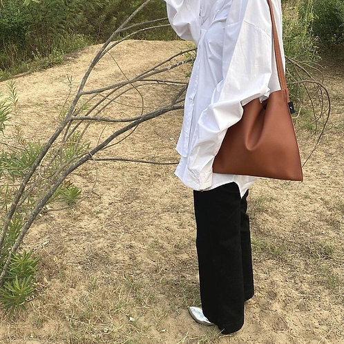 【洽圖洽】Rust Brand 泰國手工人工皮袋-Hobo包-銹色-中