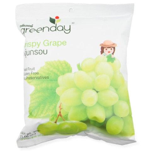泰國必買 Greenday凍脆蔬果乾-白葡萄 30g
