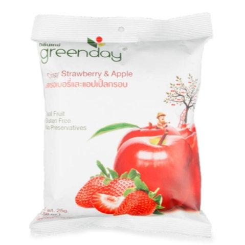 泰國必買 Greenday凍脆蔬果乾-蘋果草莓 25g