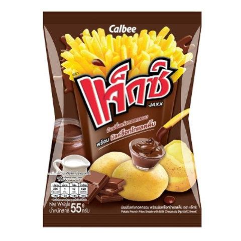 泰小食-Calbee  卡樂比 JAXX薯條/巧克力沾醬- 55g