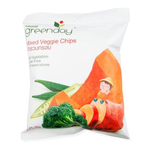 泰國必買 Greenday凍脆蔬果乾-綜合蔬菜 35g