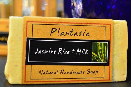 【泰好用】Plantasia 泰產手工天然肥皂-食材類-泰國香米與牛奶 110g  5%±