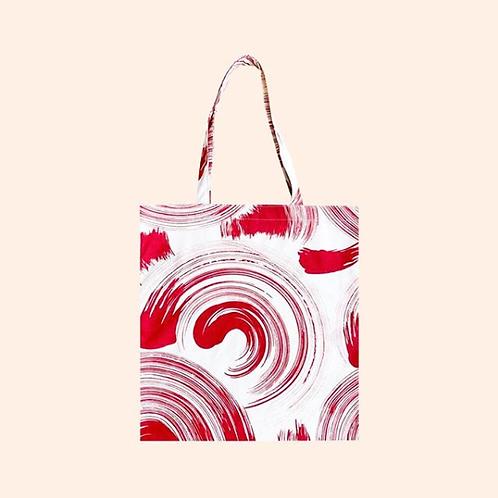 【洽圖洽】Himawari Baggu 泰國手工休閒包-紅刷色托特包