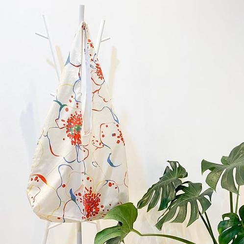 【洽圖洽】Himawari Baggu 泰國手工休閒包-彩刷花袋