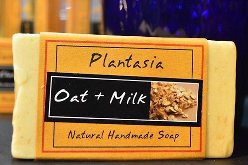 【泰好用】Plantasia 泰產手工天然肥皂-食材類-麥與牛奶 110g  5%±