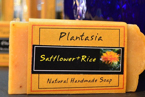 【泰好用】Plantasia 泰產手工天然肥皂-食材類-紅花與米110g  5%±