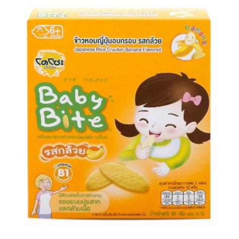 泰小食-Dozo  香蕉寶寶米餅(6m) - 50g/24入