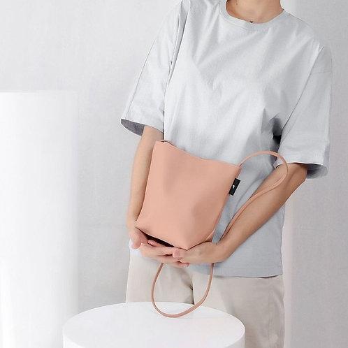 【洽圖洽】Rust Brand 泰國手工人工皮袋-水桶包-玫瑰灰