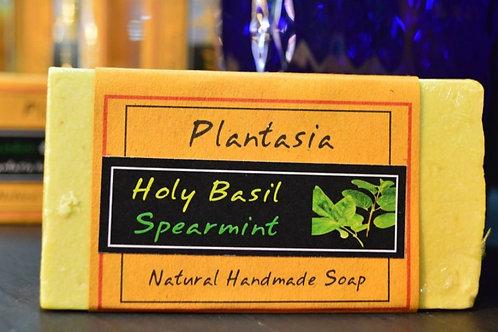 【泰好用】Plantasia 泰產手工天然肥皂-食材類-聖羅勒(打拋葉) 110g  5%±