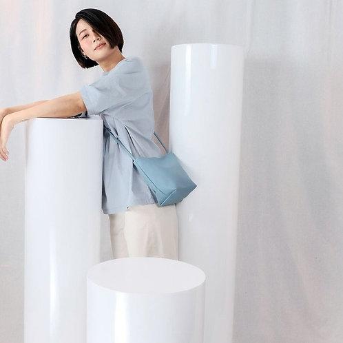 【洽圖洽】Rust Brand 泰國手工人工皮袋-水桶包-水藍色