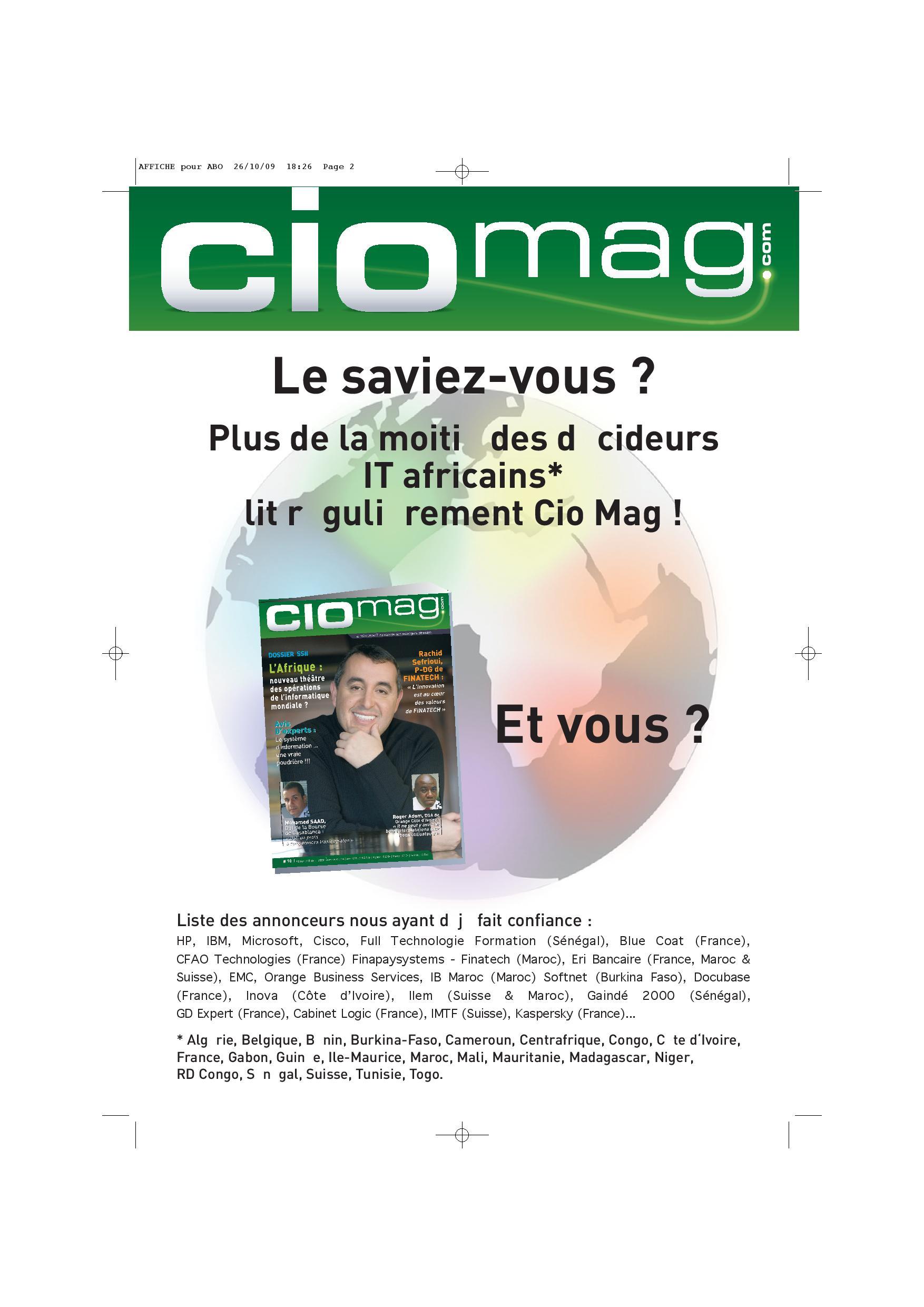 Affiche CIO mag