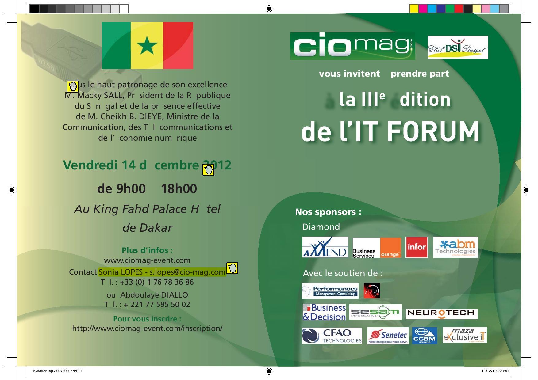 Invitation CIO mag Recto