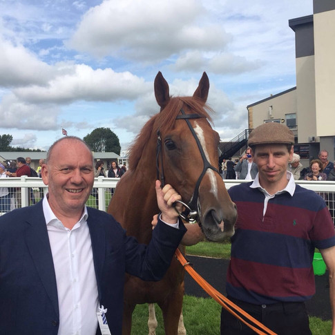 Owner Rob Smith with the winner