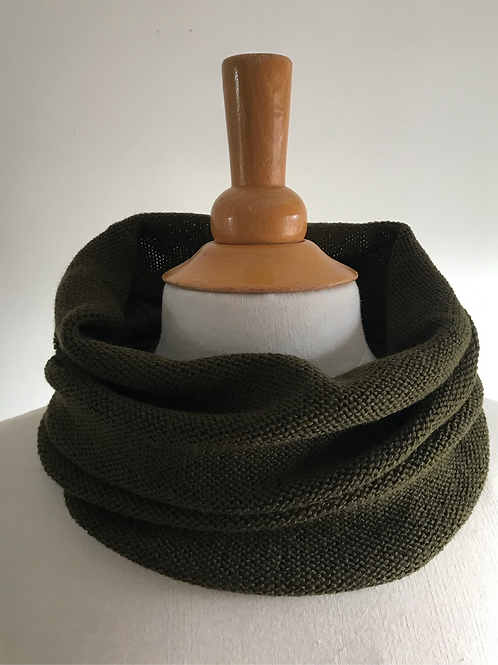 Dark Olive Snood