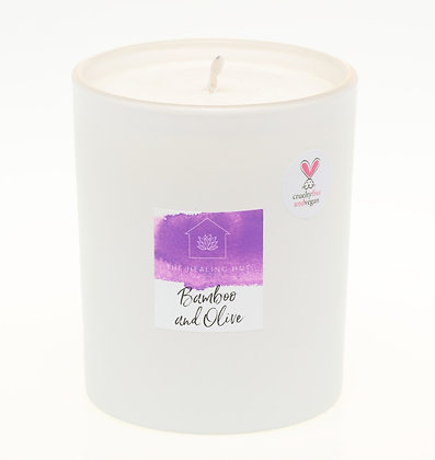 Large Candle: Bamboo and Olive