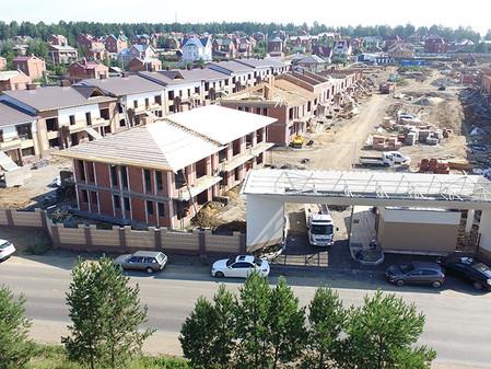 Стадия строительства EcoVille - август 2017
