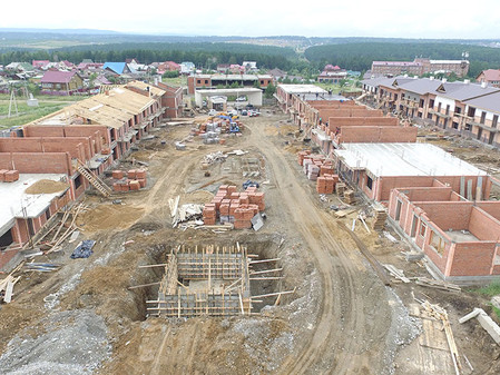 Стадия строительства EcoVille - июль 2017