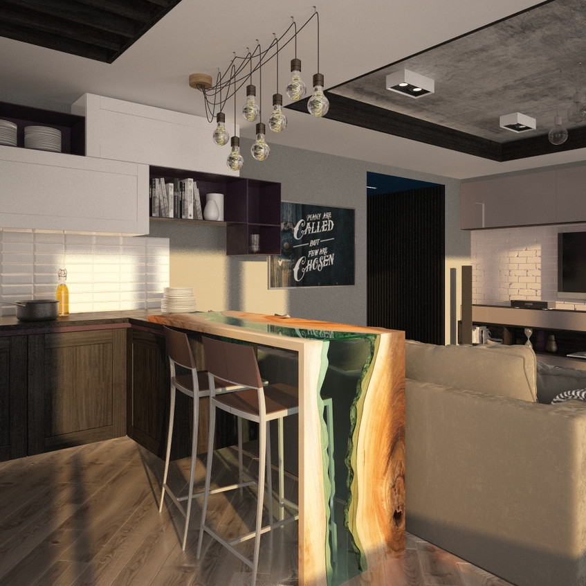 кухня -гостиная