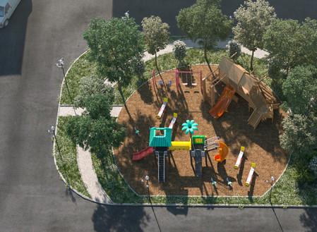 Уникальная центральная площадь в поселке Ecoville