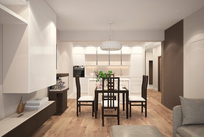 Дизайн интерьера дуплекса 81 кв.м. в EcoVille