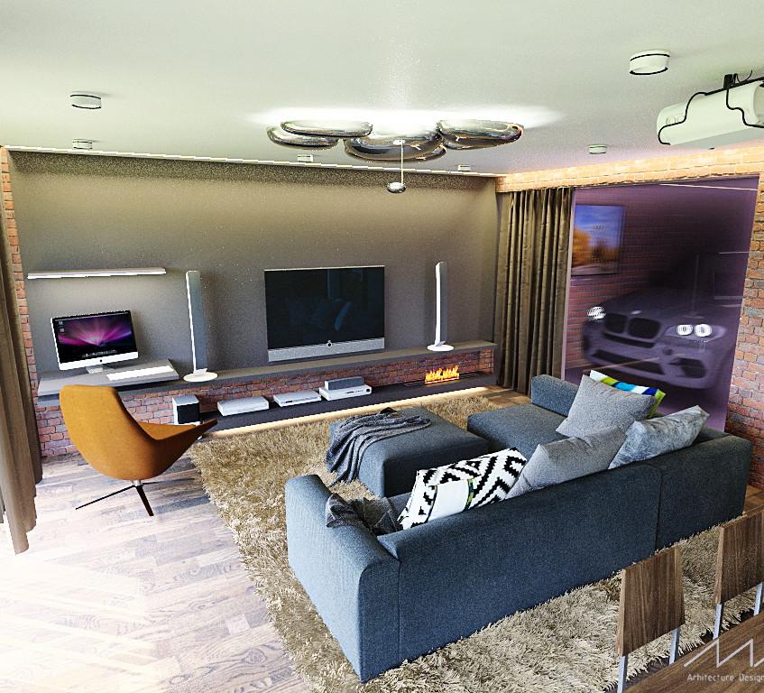 13 гостиная+гараж