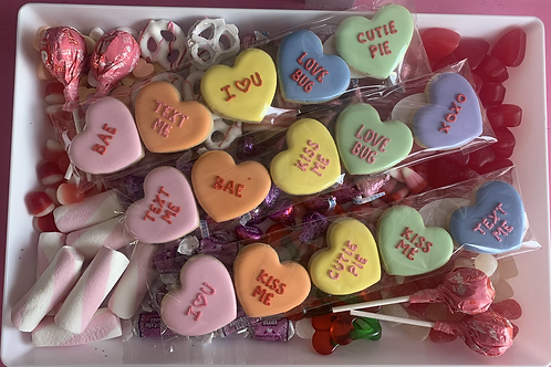 Onversational hearts pack of 5