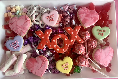 XOX Valentine's Day candy tray