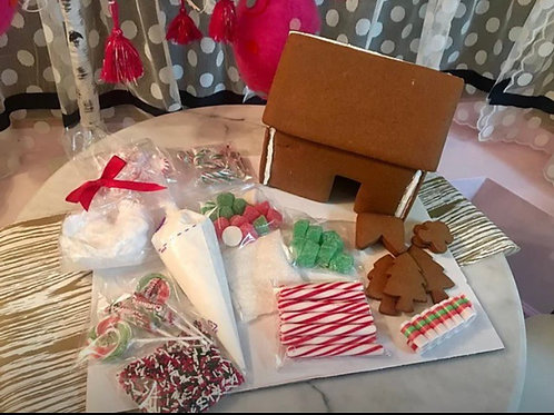 Gingerbread house - preassembled