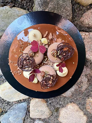 Mörk choklad, vanilj och vit choklad 10-bitar
