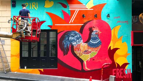 Graffiti Bar Wall Art
