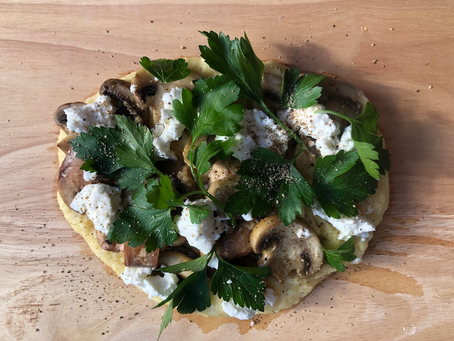Soft polenta with mushroom ragu.