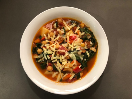 Chickpeas with spinach and potato
