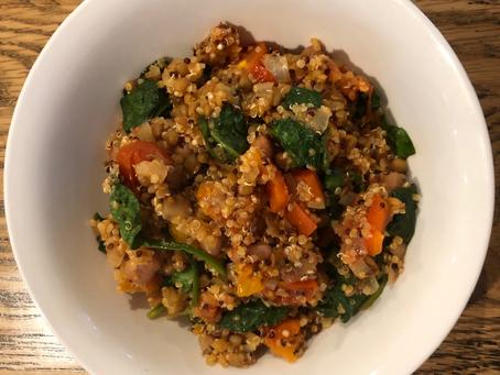 Lentil quinoa and bean bake