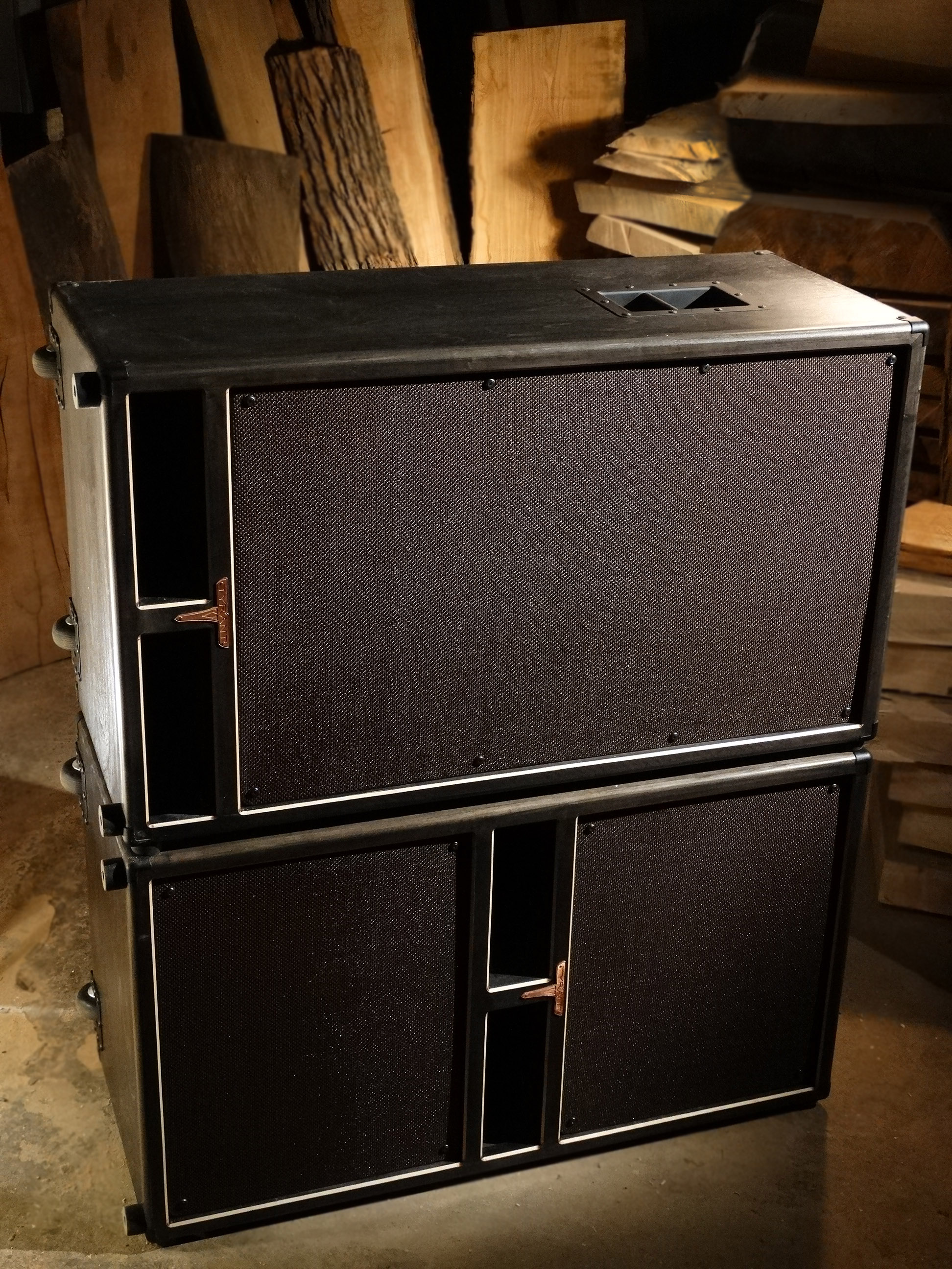 Bass 610 & 215 Cabs (side kicked)