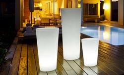 3 pots TANGO led blanche