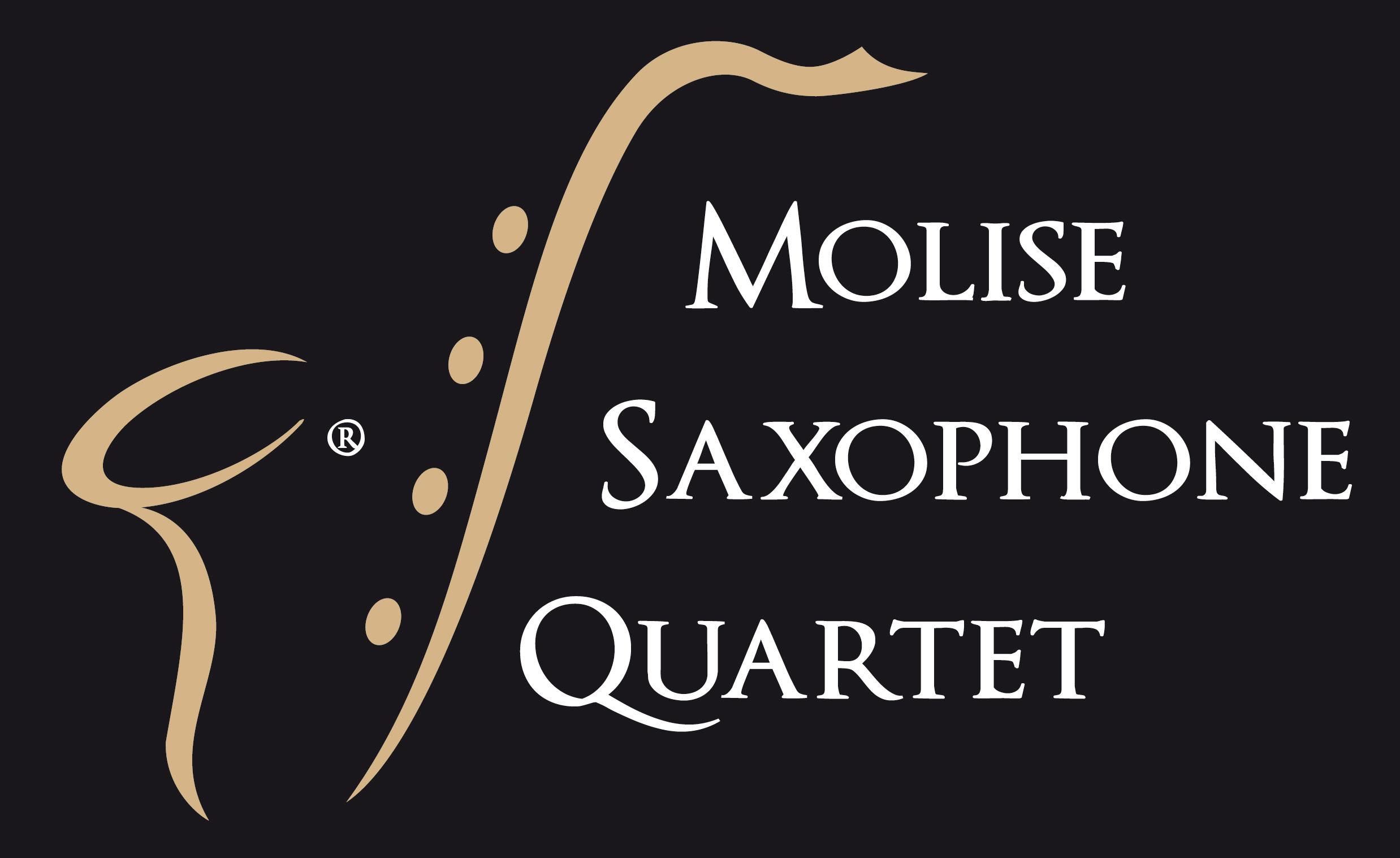 Logo Molise Saxophone Quartet (sfondo nero)