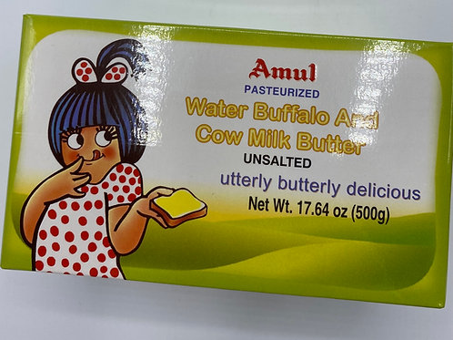 Amul Water Buffalo & Cow Milk Butter(Unsalted) - 17.64oz/500g