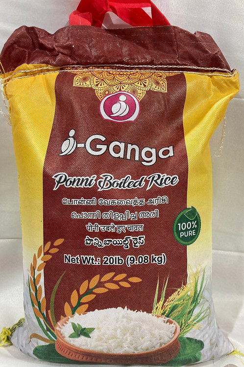 i-Ganga Ponni Boiled Rice 20lb